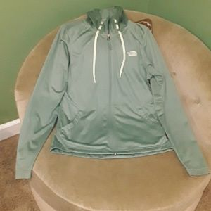 Sage green NF zip up hooded jacket small